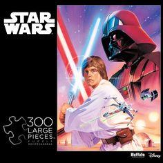 Star Wars™ Luke Skywalker and Darth Vader 300 Large Piece Jigsaw Puzzle #iamapuzzler #buffalogames #starwars #jigsawpuzzle