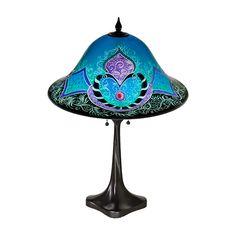 Ulla Darni reverse painted glass lampshade