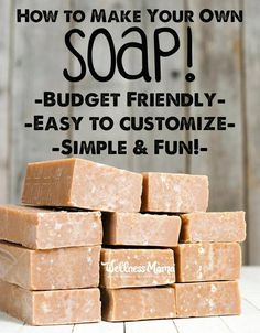 Making your own natural soap is an easy way to save money and control what is going on your body! This homemade soap is customizable and so fun to make, even with kids! Here's how to make cold process soap!