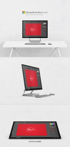 Consultez ce projet @Behance: « Free Microsoft Surface Studio PC Mock-Ups v2 » https://www.behance.net/gallery/46360571/Free-Microsoft-Surface-Studio-PC-Mock-Ups-v2
