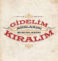 Leyla ile Mecnun by Ozan Karakoç, via Behance