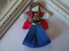 Princess Anna Ribbon Sculpture Hair Clip. Frozen by creationslove, $4.50 by manuela