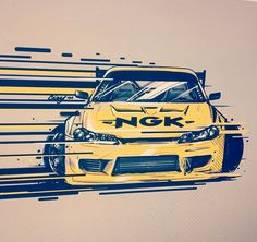 Paul Walker drifting the corners of the world. Car Illustration, Japan Cars, Car Posters, Car Sketch, Car Drawings, Automotive Art, Nissan Skyline, Jdm Cars, Car Wallpapers