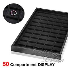 Plastic Tray with Compartment Liner for Body Jewelry Display.