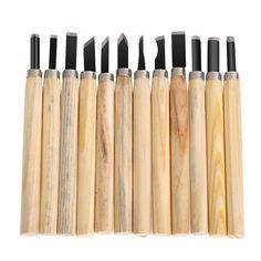 12 개/몫 칼 목판화 DIY 도구 조각 나무 손 나무 조각 도구 끌