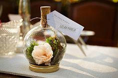 weding diys | DIY T errarium Favor and Place Holder. It includes supply list and ... this is intense