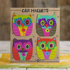 Super cute owl magnets!