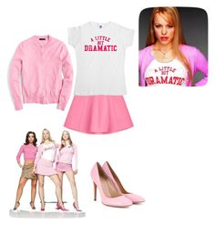 """""""Regina George Mean Girls"""" by seetherfan17 on Polyvore featuring RED Valentino, J.Crew and Gianvito Rossi"""