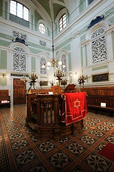 Siena Synagogue, Siena, Italy. Just around the corner from the Campio where the Palio is run once a year.