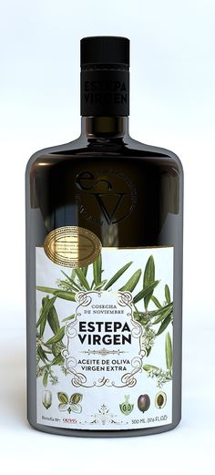 Estepa Virgen. Extra Virgin Olive oil packaging design by Buenos días,, via Behance