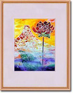 販売絵画 新月紫紺大作 タイトル「君を忘れない花」