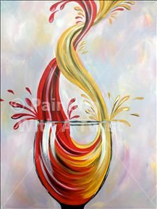 Twisted Wine Pour ($45) - Colorado Springs, CO Painting Class - Painting with a Twist