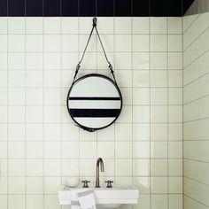 nice way of hanging a miror