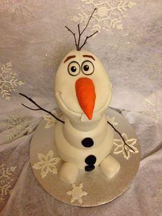 Olaf cake!! Do you wanna build a snowman???? :)