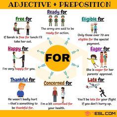 Resultado de imagen de adjective and preposition