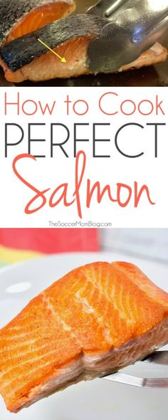 Want to know how to cook salmon like the pros do?? With this foolproof trick you can enjoy restaurant style pan-seared salmon at home...every single time!  #salmon #seafood #recipe #cooking #healthyeats #healthyrecipes #protein via @soccermomblog
