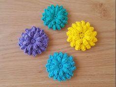 Tığ işi çiçek yapımı/Örgü modelleri - YouTube