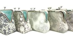 Wedding Clutch Bridesmaid Clutch Purse,Bridesmaid Gift by Cutiegirlie platinum grey and cream on Etsy, $36.00
