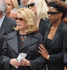 Catherine Deneuve Photo - Yves Saint Laurent Funeral  Service on June 5, 2008 at Eglise Saint-Roch in Paris, France.
