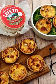 Camembert and bacon aperitif quiches - Amandine Cooking - Camembert and bacon aperitif quiches – Amandine Cooking - Cooking Camembert, Quiche Camembert, Bacon Quiche, Cooking Bacon, Dessert Party, Snacks Für Party, Indian Vegetarian Appetizers For Party, Appetizer Recipes, Pizza Recipes