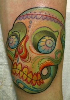 Sweet sugar skull. Too much color, though.