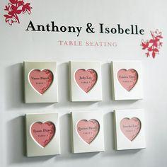 Mini Heart Photo Frames, Small Aluminum Picture frames