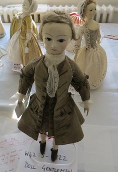 The dolls ready to go on display. (c) Victoria & Albert Museum