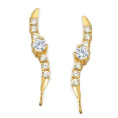 2/5ct. Twt. Classic Diamond Ear Pin Earrings 14k Yellow Gold #earpinearrings #sterlingsilverearpins #earringsthatgoup #pinearrings #earpinsjewelry #earpin #earpin #earspirals #earspirals #slideonearrings #climbtheearearrings #wrapearrings #nonpiercedearrings #earcuffs #personalizedbracelets #earcuffs #cuffearrings #cliponearrings #earspiralsearrings #earspiralearrings