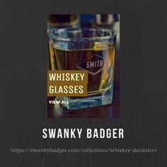 WHISKEY GLASSES Personalized Whiskey Glasses are the perfect gift for any aspiring gentleman and the perfect accompaniment to one of our Personalized Whiskey Decanters.