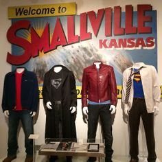Some of Tom Welling's costumes from the #Smallville series, all designed for the show, except the Superman suit, which was borrowed from a movie (I'll leave it at that.).