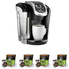 Keurig Coffee Maker w/Breakfast Blend Coffee K-Cups (Black, >>> See this great image : Coffee Maker K Cup Coffee Maker, Pod Coffee Makers, Coffee K Cups, Coffee Brewer, Coffee Lovers, Espresso Machine Reviews, Coffee Maker Reviews, Espresso Maker, Keurig