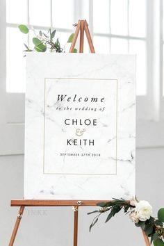 Wedding Ideas By Colour: Marble Wedding Decorations | CHWV #white #wedding #marble #décor Event Signage, Wedding Signage, Wedding Venues, Wedding Ideas, Wedding Cakes, Wedding Inspiration, Civil Wedding, Post Wedding, Dream Wedding