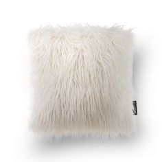 Phantoscope Decorative White Faux Fur 18' x 18' Pillow with Insert Included *** See this awesome image  (This is an amazon affiliate link. I may earn commission from it)
