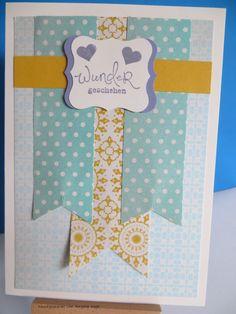 MtS - Sketch 032:   Stampin up DP Picknick am Nachmittag / Farbe blauregen / CS in vanille und curry-gelb / Stempelset Frühlingsgefühle und Im Fähnchenfieber
