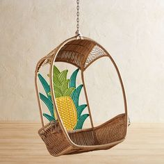 woven pineapple Swingaswan®️️ with side compartments for your drink / for indoor or outdoor Pineapple Room Decor, Pineapple Decorations, Pineapple Art, Pineapple Design, Wooden Office Chair, Office Chairs, Papasan Chair, Diy Home, Home Decor