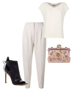 """Sharp"" by misslmos ❤ liked on Polyvore featuring MaxMara, Alberto Biani, Dolce&Gabbana and Vince"