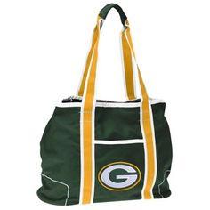 Green Bay Packers Ladies Green Hampton Canvas Tote Bag
