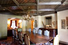 Fusch Architects | Architects & Planners » English (rustic family rm beams, contrast with dining rm ceiling)