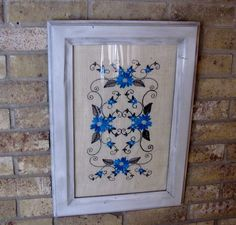 Wall decoration florial design WALL HANGING by THATSSEWAWESOMEBYCB, $35.00