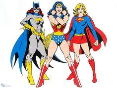 Gotham Girls from the Huntress (Helena Wayne), Batgirl (Barbara Gordon), Batwoman (Kathy Kane) and Bat-Girl (Betty Kane) Dc Comics, Comics Girls, Batwoman, Comic Book Characters, Comic Books Art, Comic Art, Superhero Costumes Female, Gotham Girls, Female Hero
