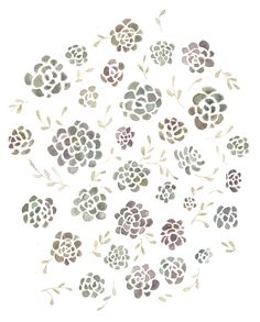 succulents by Kelli Murray Floral Logo, Floral Prints, Art Prints, Illustrations, Graphic Illustration, Etsy Fabric, Art Design, Graphic Design, Surface Pattern Design