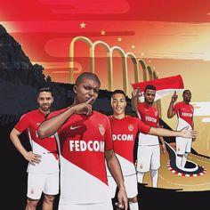 Le nouveau maillot de #Monaco #ASM #Mbappé #Falcao