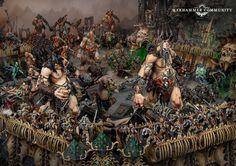 Mega-Gargants – On the Table - Warhammer Community Warhammer Aos, Warhammer Fantasy, Monsters, Beast, Sons, Miniatures, Creatures, Community, Artwork