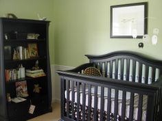 Baby Boy Nursery Ideas   Baby Boy Room, Funky Green baby boy room with brown polka dot bedding ...