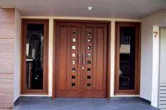 Lots of entry door ideas here. Home Door Design, Front Door Design Wood, Double Door Design, Pooja Room Door Design, Wood Front Doors, Wooden Door Design, Main Door Design, Duplex Design, Bungalow House Design
