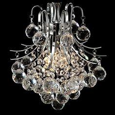 Lámpara Chandelier de Cristal Cromada con 3 Bombillas - DRANCY - EUR € 107.24