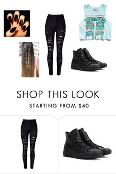 """wattpad"" by kennajayce on Polyvore featuring Converse and Forever 21"
