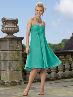 Beach Wedding bridesmaid dress.  i want this color or turquoise or fuchsia pink :)