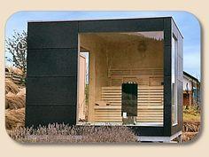 Gartensauna Design mit HPL Trespa