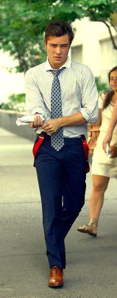 """I'm chuck bass"" @anastasiaevan ... those suspenders ... i can't control myself"